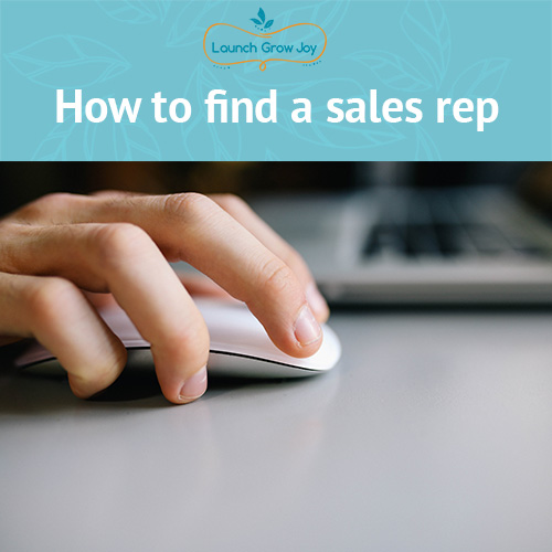 How to find a sales rep for your product business - Launch Grow Joy