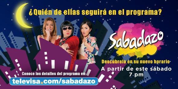 Sabadazo cambia de horario! #Sabadazo7DeLaNoche