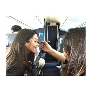 Maquillaje Express areo gracias a paolavisa !!! Ahorrando tiempo hellip
