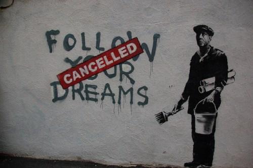 banksy follow your dreams