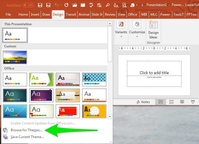 PowerPoint templates and Office themes explained Laura M Foley Design