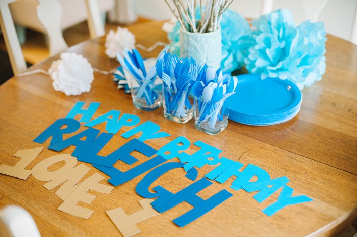 Raleigh\u0027s First Birthday A Blue Themed Birthday Party - blue and green birthday party