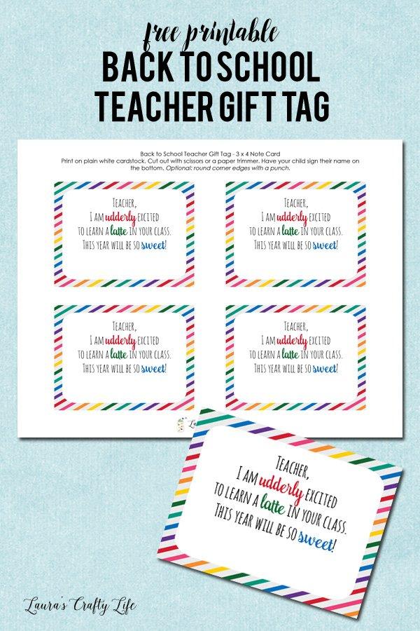 Back to School Teacher Gift - Laura\u0027s Crafty Life