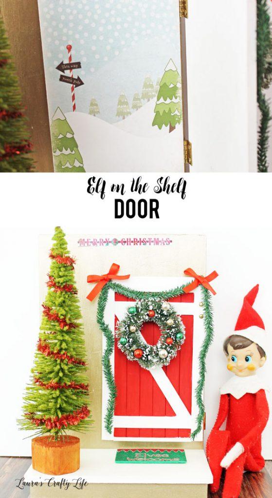 Elf on the Shelf Door - Laura\u0027s Crafty Life