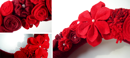 red wreath details
