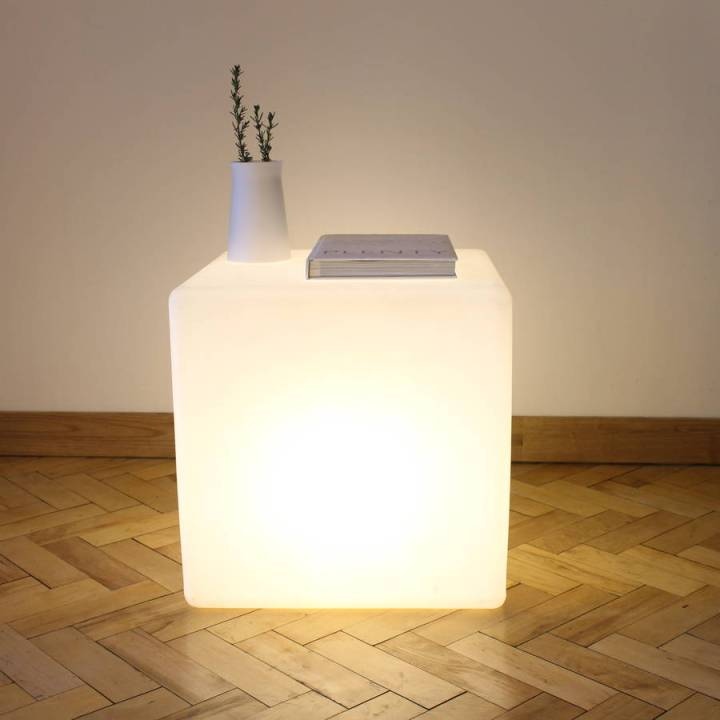 Made to Last - One-Foot-Taller-Cube-Lamp-Side-Table
