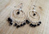 Onyx Sterling Silver Drop Earrings