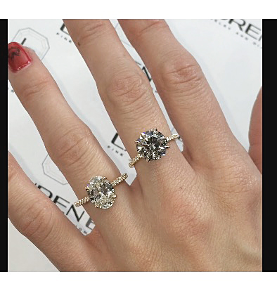 Round vs Oval Diamond Faceoff Jewelry Blog Engagement Rings