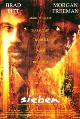 """Auch in der modernen Kultur wird das Thema Todsünden verarbeitet, z.B. im Hollywood Film """"Sieben"""" mit Brad Pitt und Morgan Freeman."""