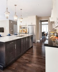 97+ Dark Wood Flooring With Light Cabinets - Dark Kitchen ...