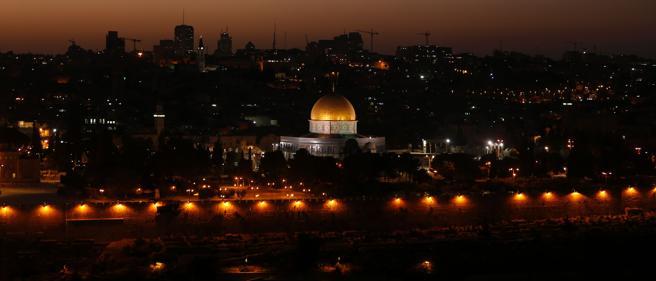 Vista de la Mezquita este jueves por la noche