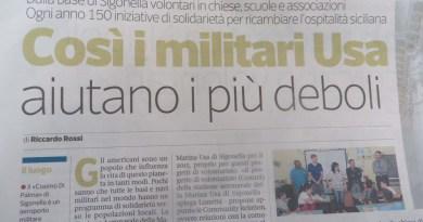 I marines perfettamente integrati a Catania