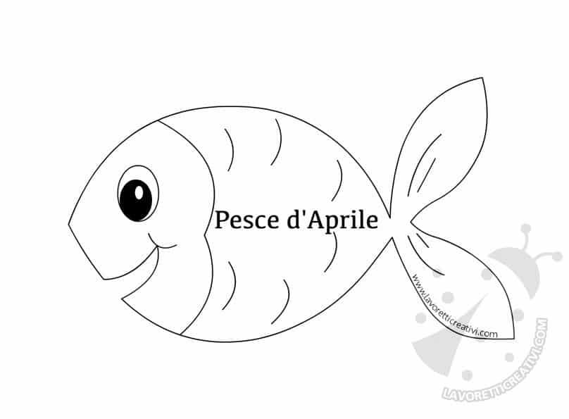 Pesce Daprile Da Ritagliare Lavoretti Creativi