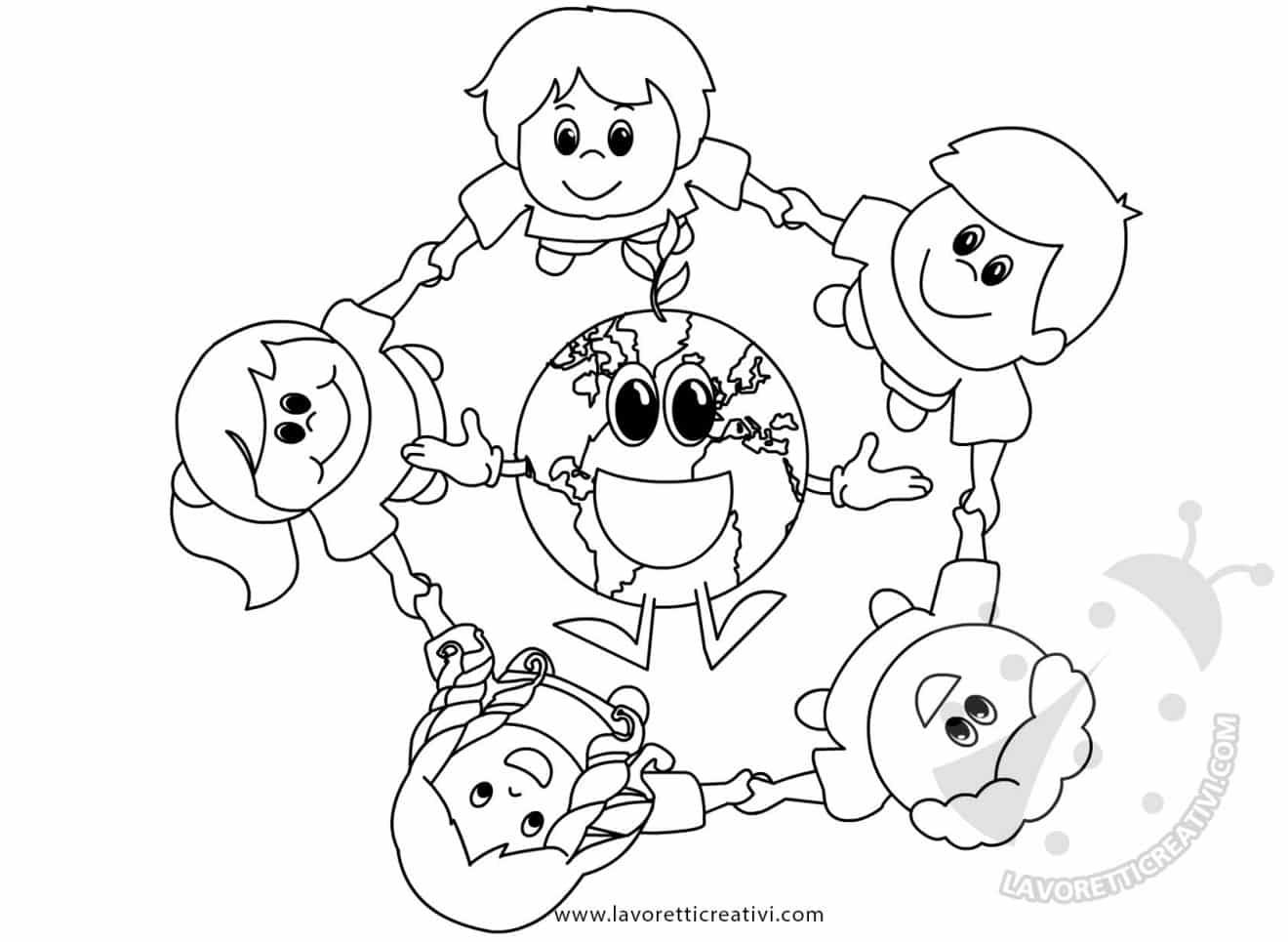 Giornata della terra disegno di bambini con pianeta terra for Maestra mary giornata della terra