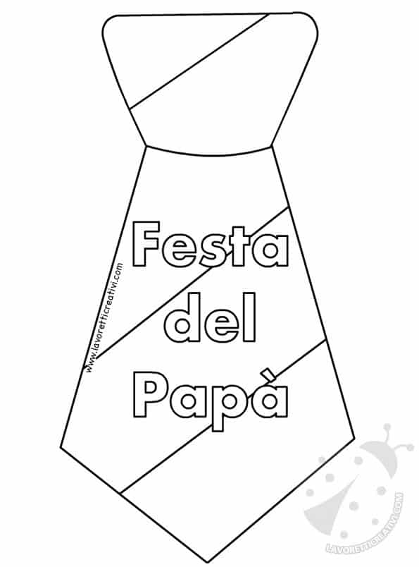 Cravatte Per La Festa Del Pap Con Disegni Da Colorare
