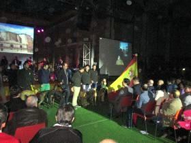 """Los navarreses del Club de Cazadores """"Hermano Antonio"""" en la presentación del Nacional de Galgos."""