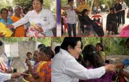 Mujeres indígenas se pronuncian en apoyo a Héctor Yunes Landa en Tantoyuca