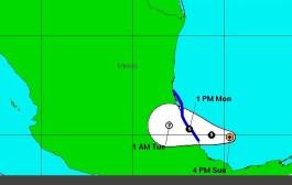 A las 13 horas tocará tierra la tormenta tropical Danielle entre Tuxpan y Laguna Verde