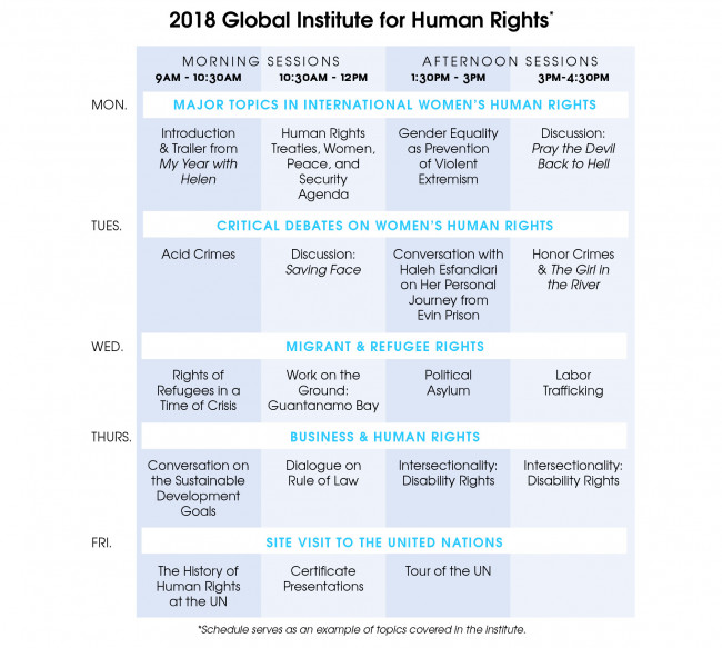 Legal Education Programs Global Institute for Human Rights \u2022 Penn Law