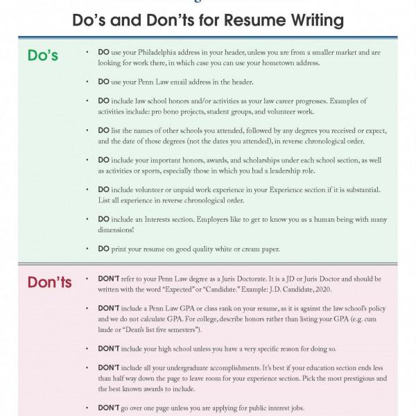 Resume Reviews Begins TODAY \u2022 Penn Law