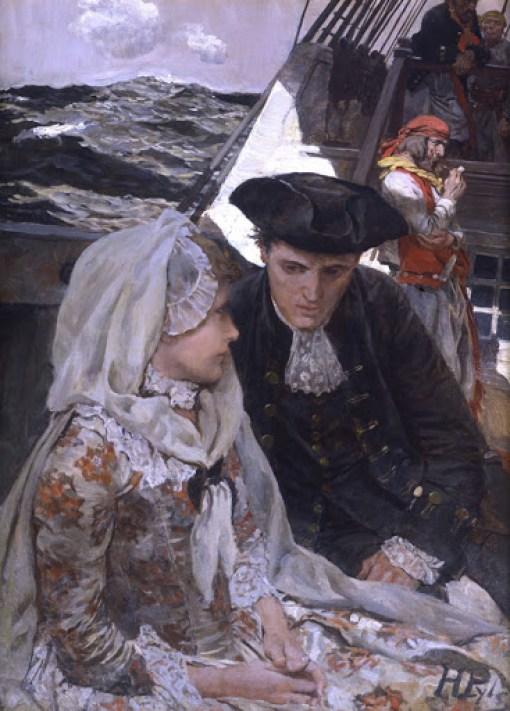 HOWARD PYLE (1853–1911) She Would Sit Quite Still, Permitting Barnaby to Gaze