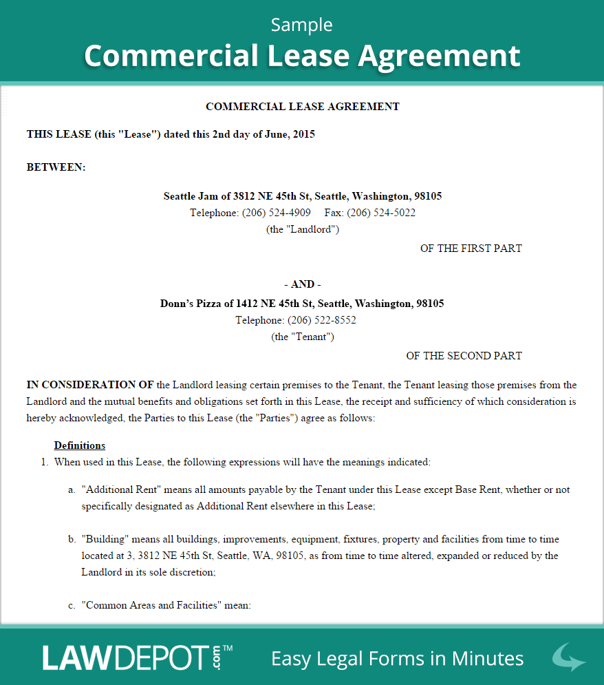 Commercial Lease Agreement Template Free Australia – Free Commercial Property Lease Agreement