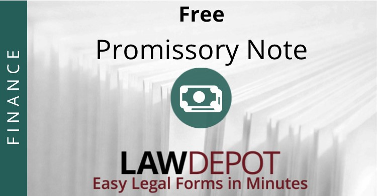 Promissory Note Template Free Promissory Note Form (US) LawDepot - draft promissory note agreement
