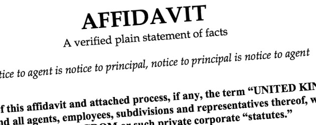 how to write a affidavit