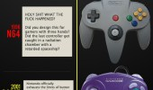 The evolution of Nintendo's game controllers. NES, SNES, N64, Gamecube, and Wii controllers.