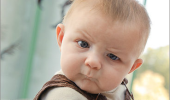 A Skeptical Baby meme. You mean to tell me, spoons don't actually sound like airplanes?
