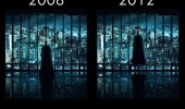 The Dark Knight Rises meme. Batman in 2008, and in 2012 Batman floats in the air.