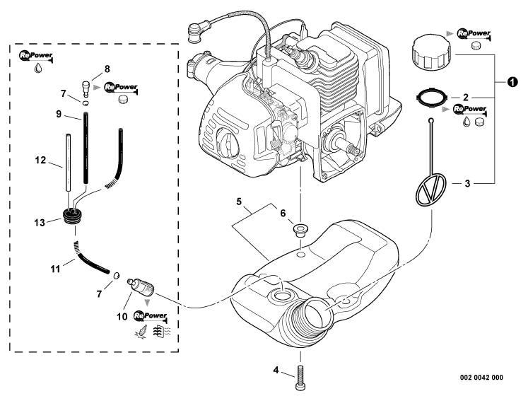 fuel tank filter for troy bilt tiller