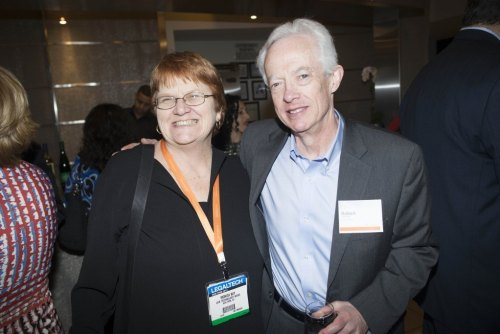 With Monica at a Thomson Reuters event during LegalTech 2013.