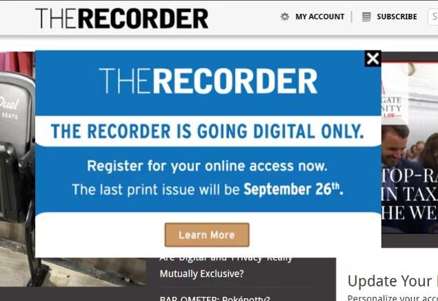 Recorder Going Digital