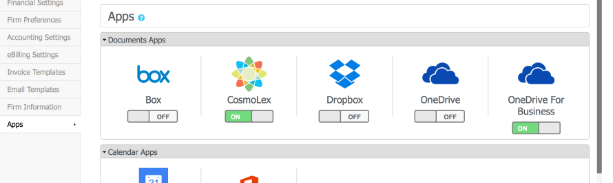 New Features from CosmoLex Include Office 365 Calendar and OneDrive Integrations