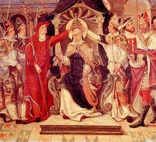coronation of pope