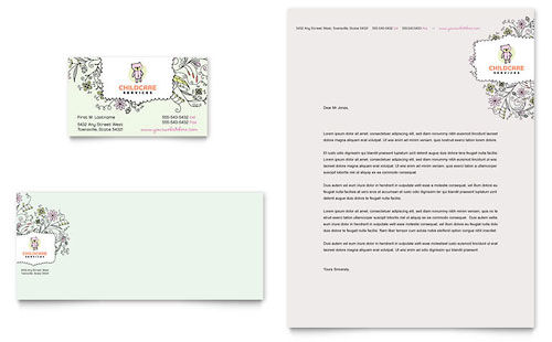 Child Care - Letterhead Templates - Word  Publisher