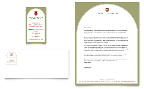 College  University - Stationery Templates - Word  Publisher - microsoft stationery template