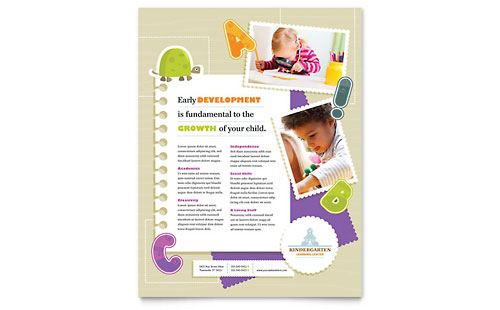 Child Care - Flyer Templates - Word  Publisher