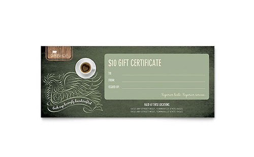 Free Gift Certificate Template - Download Word  Publisher Templates