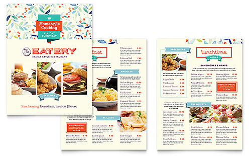 Food  Beverage Brochures  Flyers - Word  Publisher Templates