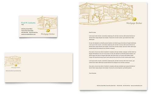 Mortgage Broker Newsletter Template - Word  Publisher - microsoft stationery template