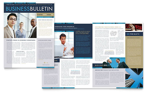 Small Business Consulting Newsletter Template - Word  Publisher