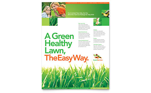 Microsoft Office Templates - Gardening  Lawn Care LayoutReady