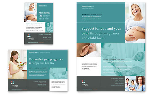 Pregnancy Clinic Flyer Template - Word  Publisher - flyer layout templates