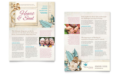 Hospice  Home Care Newsletter Template - Word  Publisher
