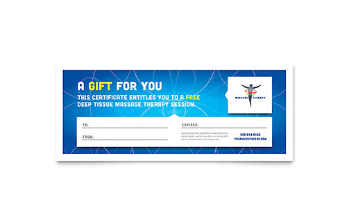 Reflexology  Massage Gift Certificate Template - Word  Publisher
