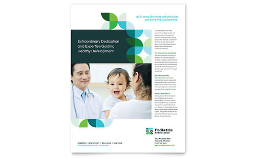 Medical  Health Care - Flyer Templates - Word  Publisher - free medical brochure templates