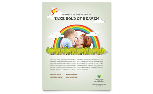 Child Care - Leaflet Templates - Word  Publisher