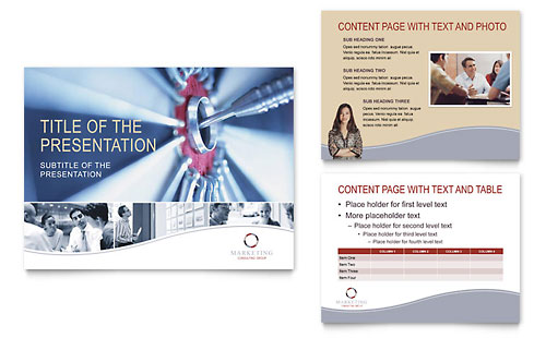 Marketing Consulting Group PowerPoint Presentation - PowerPoint Template - Consulting Presentation Templates